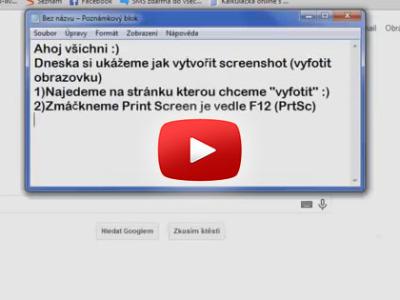 Ako spraviť PrintScreen – ScreenShot obrazovky