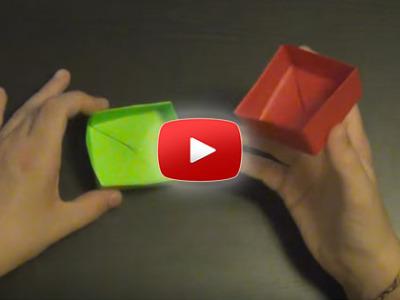 Ako spraviť papierovú krabičku (origami)