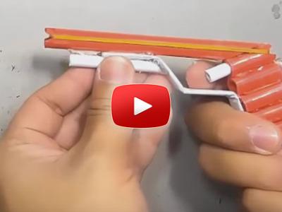 Ako spraviť pištoľ na gumičky z papiera