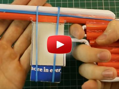 Ako spraviť pištoľ z papiera na 5 nábojov