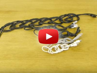 Ako spraviť poriadok s dlhým káblom