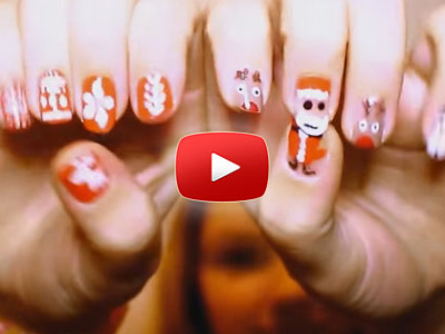 Ako spraviť vianočné nechty – 2 návody v 1 videu