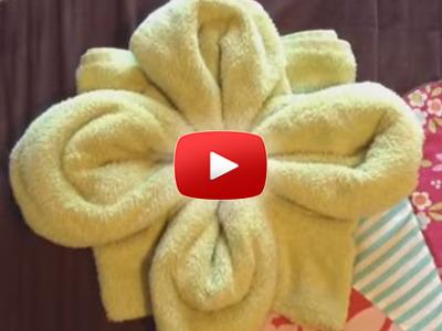 Ako spraviť z uteráku kvetinu