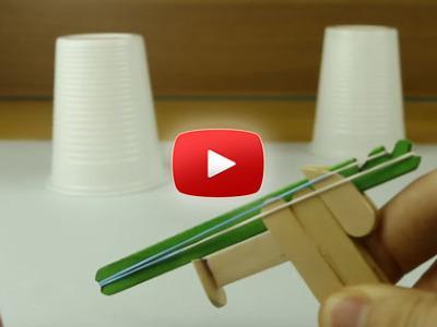 Ako vyrobiť mini pištoľ na gumičky