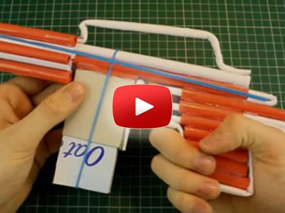 Ako spraviť samopal M4 z papiera